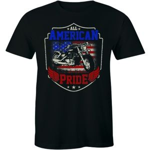 All American Pride T-Shirt Biker Chopper T-shirt
